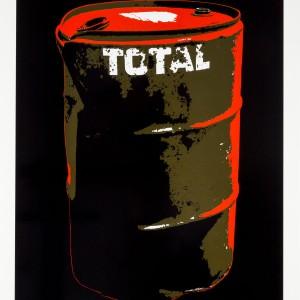 Tirage en sérigraphie  4 couleurs sur tôle d'aluminium, 2012. 65,4 x 88 x 2 cm. Tirage:  5 exemplaires, n., s.